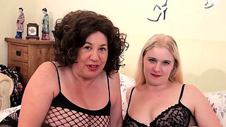 Mature Aunty has a threesome with a younger couple
