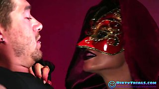 Masked Mistress Fucked in Leather