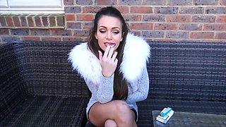 Hot brit babe jh smoking