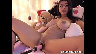 beautiful girl fuck machine