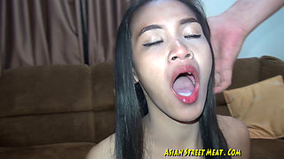 Beautiful brunette Asian slut fucked and facialized