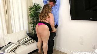 big tits big ass bbw drilling her pussy