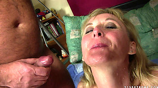 Mature blonde fucked and pissed