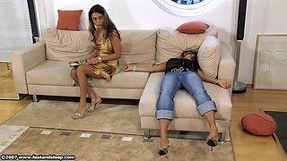 Striptease, sleeping, milf