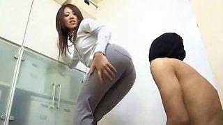 Exotic Japanese slut Riko Miyase in Amazing Office, Secretary JAV clip