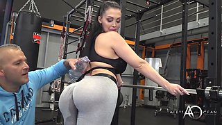 Big Bubble Butt Fitness Milf Aletta Ocean And Her Special Gym Exercise