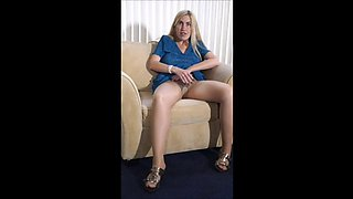 MILF Porsha's 1st Nude Pantyhose Strip