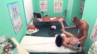 doctor gives doggy style for patient