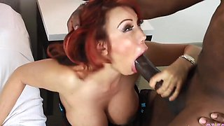 Ava Devine is great at bouncing on a massive black tool