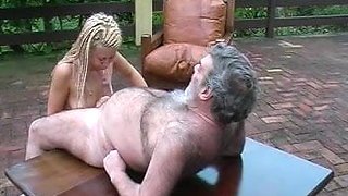 Cinthia is fucked by an old man