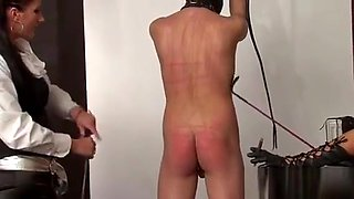 Hot hottie dominates her slave