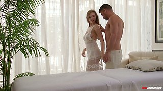 Sensual hottie Lena Paul enjoys having sex after hot slippery massage