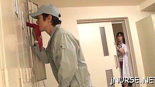 japan nurse shows off pussy segment feature 2