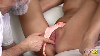 OLD4K. Horny daddy demonstrates blonde colleen what passion is