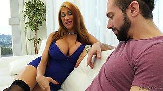 Super hot busty cougar Sheila Marie seduces friend of her son