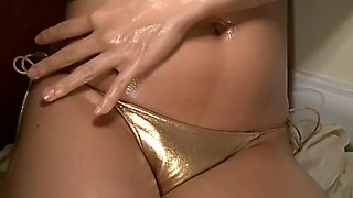 Yukie i need your love - oiled up gold bikini (non-nude)