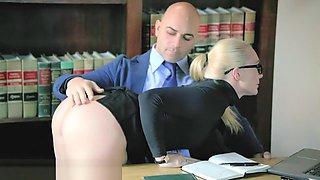 TUSHY Curvy AJ Applegate Punished By Her Boss