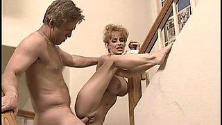 Busty blonde mature Erika Lockett loves having deep anal sex