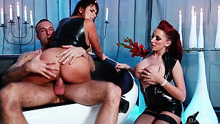 Magnificent threesome with hoes Valery Summer and Porcha Sinns