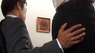 Hottest Japanese chick Megu Fujiura in Exotic Cunnilingus, Stockings/Pansuto JAV video