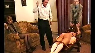 Czech schoolgirl hard spanked by teachers
