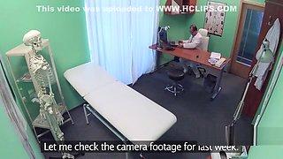 Doctor bangs hot nurse in stockings
