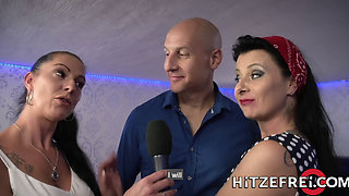 HITZEFREI German MILF finds herself a big cock to fuck