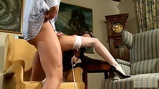 Blown by the maid