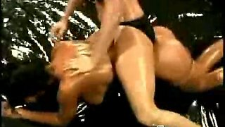 Veronica and sydney oil wrestling 2