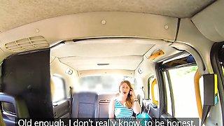 Female Fake Taxi Wild lesbians share a massive dildo