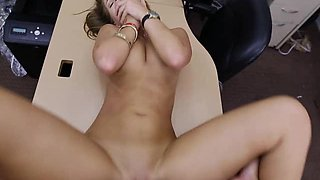 Slutty Bride Getting Banged On Pawn Shop Desk