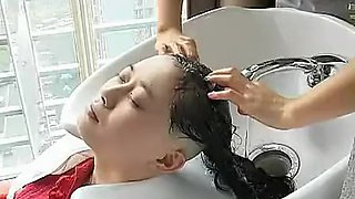 Chinese whore cuts hair