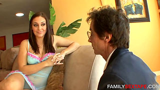 Daughter Blackmails Step Dad- SO HOT