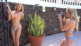 Some topless outdoor photo session with charming slender Anna J