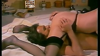 Sizzling hot vintage blonde babe likes to start sex in 69 style position