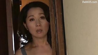 Asian japanese mom caught her son masturbating