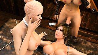 3D Girls Love Futanari Cocks!