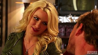 Charming blonde bitch Anikka Albrite is drilled by her eager fellow