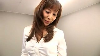 Fabulous Japanese chick Honami Takasaka in Exotic Stockings/Pansuto, Secretary JAV movie