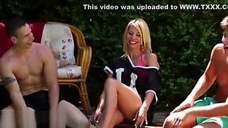 Hot Bi Blonde Rides Rod