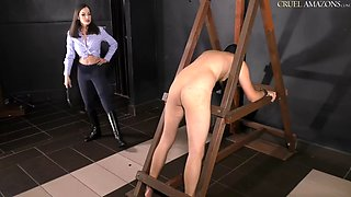 Mistress punishes her slave
