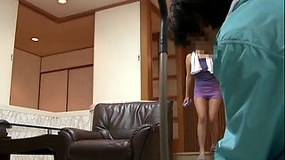 A Naked Japanese Housewife In A Bath Towel 1-2