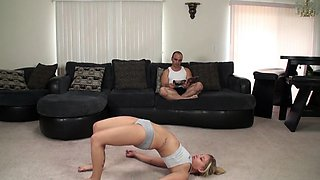 Naughty stepdad fantasizes about slamming his daughter