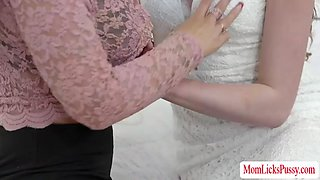 Hot lesbian sex before the wedding with elena and syren
