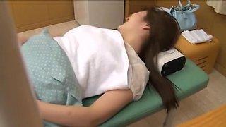 Busty Jap teen screwed in voyeur erotic massage movie