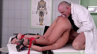 Tina Kay came in to her doctor for a check up. Her breasts