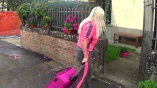 Busty wild blonde jarushka ross meet tourist crew by chance