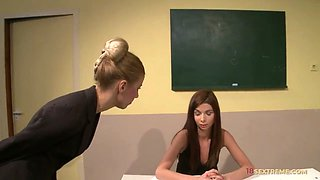 Schoolgirl Gets Tied and Punished
