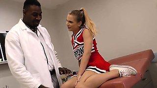 Cheerleader Teen Sydney Cole Fucks A Black Cock In Hospital