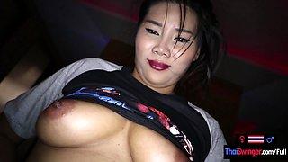 Amateur MILF Thai sex massage with a white tourist customer